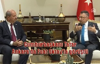 Cumhurbaşkanı Tatar Ankara'da Fuat Oktay'la...