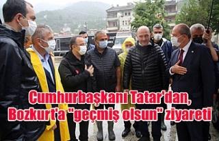 """Cumhurbaşkanı Tatar'dan, Bozkurt'a """"geçmiş..."""