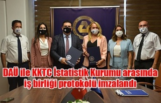 DAÜ ile KKTC İstatistik Kurumu arasında iş birliği...