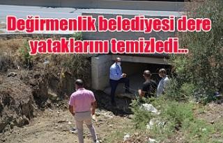 Değirmenlik belediyesi dere yataklarını temizledi…