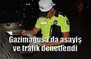 Gazimağusa'da asayiş ve trafik denetlendi