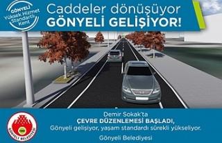 Gönyeli'de Demir sokak çevre düzenleme projesi'ne...