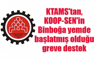 KTAMS'tan, KOOP-SEN'in Binboğa yemde başlatmış...