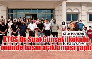 KTÖS Dr. Suat Günsel ilkokulu önünde basın açıklaması...