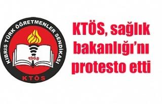 KTÖS, sağlık bakanlığı'nı protesto etti