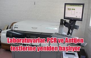 Laboratuvarlar, PCR ve Antijen testlerine yeniden...