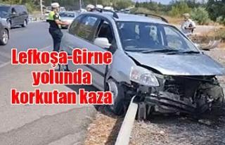 Lefkoşa-Girne yolunda korkutan kaza