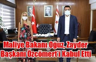 Maliye Bakanı Oğuz, Zayder Başkanı Özcömert'i...