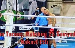 Metin Turunç, Rakibini 25 saniyede nakavt etti