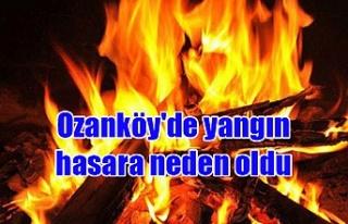 Ozanköy'de yangın hasara neden oldu