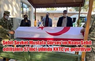 Şehit Şevket Mustafa Gürsoy'un Naaşı Şehit...