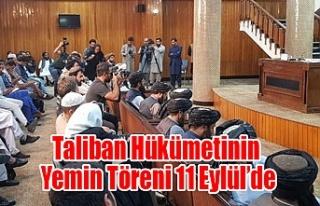 Taliban'ın kurduğu geçici hükümetin yemin töreni...