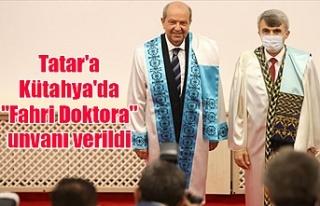 """Tatar'a Kütahya'da """"Fahri Doktora""""..."""