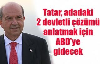 Tatar, adadaki 2 devletli çözümü anlatmak için...