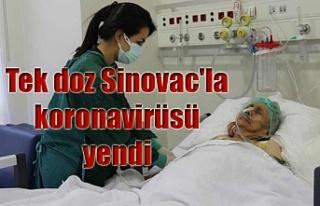 Tek doz Sinovac'la koronavirüsü yendi