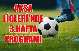 AKSA Ligleri'nde 3.hafta programı