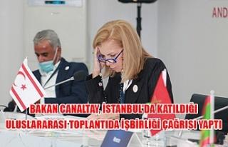Bakan Canaltay, İstanbul'da katıldığı uluslararası...