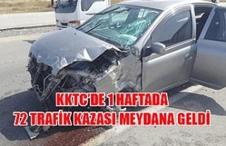 Bir haftada 72 trafik kazası meydana geldi