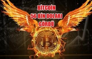 Bitcoin 56 bin doları gördü