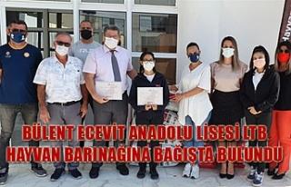 Bülent Ecevit Anadolu Lisesi LTB Hayvan Barınağına...