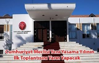 Cumhuriyet Meclisi Yeni̇ Yasama Yılının İlk Toplantısını...