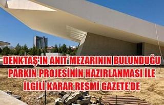 Denktaş'ın Anıt Mezarının bulunduğu parkın...