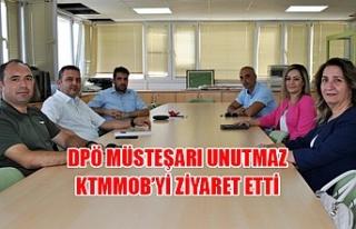 DPÖ Müsteşarı Unutmaz KTMMOB'yi ziyaret etti