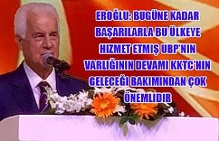 Eroğlu: Bugüne kadar başarılarla bu ülkeye hizmet...