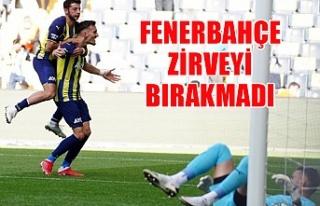 Fenerbahçe zirveyi bırakmadı