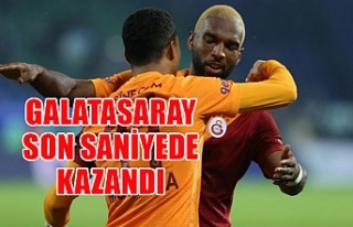 Galatasaray son saniyede kazandı