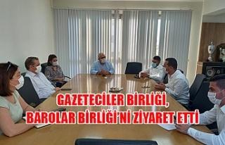 Gazeteciler Birliği, Barolar Birliği'ni ziyaret...