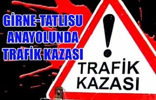 Girne-Tatlısu anayolunda trafik kazası