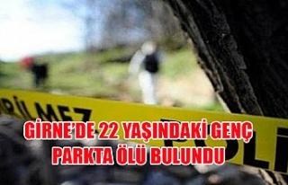 Girne'de 22 yaşındaki genç parkta ölü bulundu