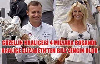 Güzellik kraliçesi 4 milyara boşandı: Kraliçe...