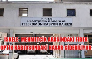 İskele- Mehmetçik arasındaki fiber optik kablosundaki...