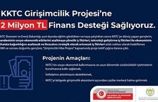 KEİ KKTC Girişimcilik Projesi'ne 2 milyon TL finans...