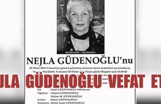 Nejla Güdenoğlu'yu Kaybettik