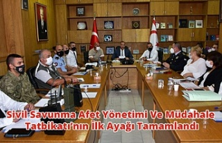 Sivil Savunma Afet Yönetimi Ve Müdahale Tatbikatı'nın...