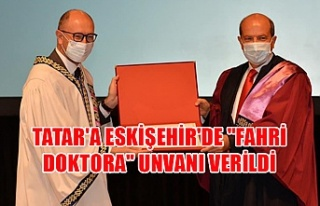 """Tatar'a Eskişehir'de """"fahri doktora""""..."""