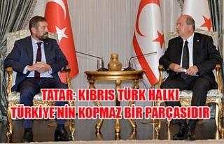 Tatar: Kıbrıs Türk halkı Türkiye'nin kopmaz...