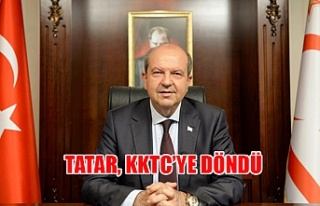 Tatar, KKTC'ye döndü