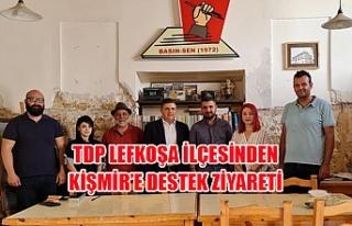 TDP Lefkoşa İlçesinden Kişmir'e destek ziyareti