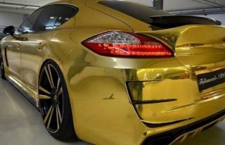Altın renkli Panamera trafikten men edildi