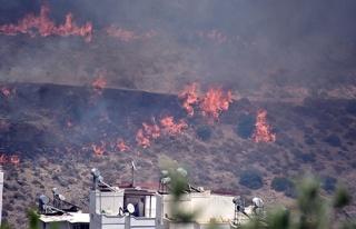Bodrum'da korkutan yangın! Sitelere doğru ilerliyor