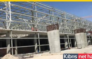 Ercan'da inşaat hızla devam ediyor