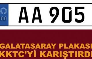 Galatasaray plakası Kuzey Kıbrıs'ı karıştırdı
