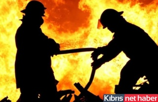 Girne'de ev yangını!