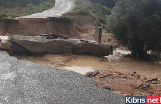 İskele Karpaz Bölgesinde Aşırı Yağış Hayatı...