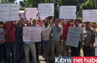 KAR-İŞ, Girne'de araçlı eylem yapıyor