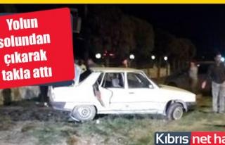 Lefkoşa-Güzelyurt Anayolunda kaza korkuttu